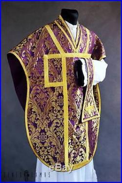 Borromeo Neri Violet Vestment Chasuble Kasel Messgewand Stole Stola Maniple