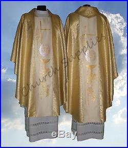 Chasuble Kasel Messgewand Vestment Casula 202-G fr
