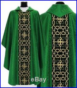 Chasuble Kasel Messgewand Vestment Casula Embroidery made on velvet 574-AZ25 us