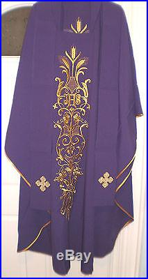 Chasuble purple Vestment Kasel Messgewand