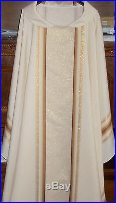 Ecru Chasuble stole Vestment Kasel Messgewand