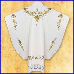 Ecru White Chasuble Vestment Kasel Messgewand