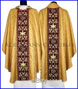 GOLD EMBROIDERY MADE ON VELVET Chasuble Kasel Messgewand Casula 603-AGC16 us