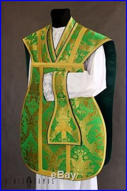 Green Roman Vestment Chasuble Kasel Messgewand Stole Stola Maniple Manipel