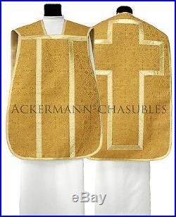 Gold Roman chasuble Römische Kasel Messgewand romaine Casulla romana R-G16 us