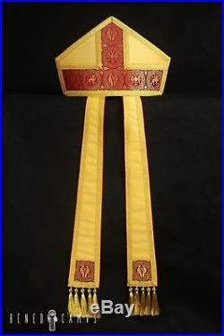 Gold Romanesque Episcopal Bishop Mitre Mitra Pretiosa Chasuble Kasel Messgewand