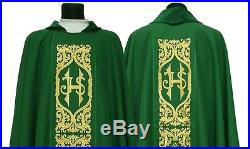 Green Chasuble Kasel Messgewand Vestment Casula 589-Z us