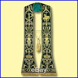 Green Confession Etole Chasuble Vestment Kasel Messgewand