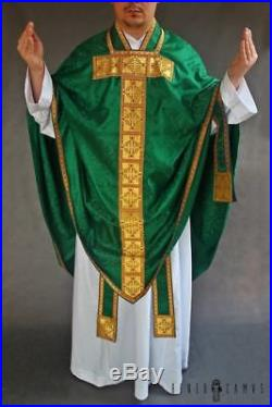 Green Conical Vestment Chasuble Kasel Messgewand Stole Stola Maniple Manipel