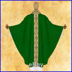Green Messgewand Chasuble Vestment Kasel