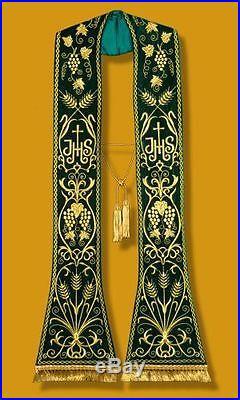 Green Stole Etole Chasuble Vestment Kasel Messgewand