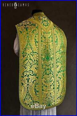 Green Vestment Roman Chasuble Kasel Messgewand Stole Stola Maniple Manipel