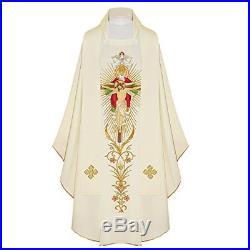 Holy Trinity White Messgewand Chasuble Vestment Kasel