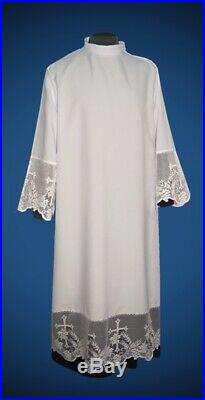 Lace Alb Camice Roman style Kapelle Chasuble Vestment Kasel Messgewand