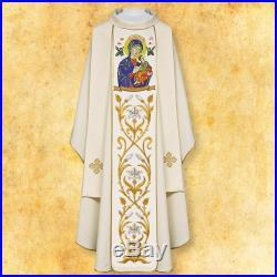 Marian Perpetual Help Messgewand Chasuble Vestment Kasel