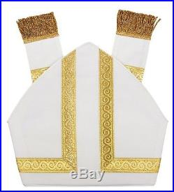 Mitra, Mitre, Mitras, Kasel, Messgewand, Casule, Chasuble, Vestment M015-B