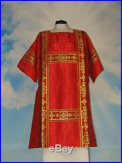 News! Roman Dalmatic Chasuble, Casula, Vestment, Casel, Casulla Kasel-messgewand