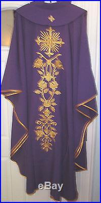 Purple Chasuble Vestment Kasel Messgewand
