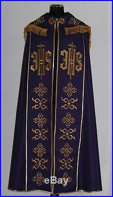 Purple Cope Messgewand Chasuble Vestment Kasel