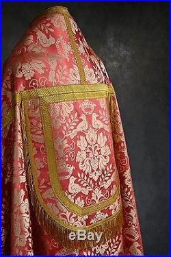 Rose Pink Silk Cope Vestment Chasuble Kasel Messgewand Stola Maniple Manipel