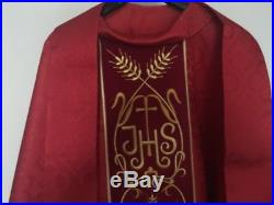 Red Chasuble Stole Vestment Kasel Messgewand