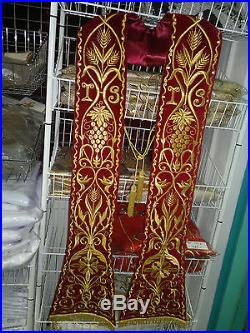 Red Etole Chasuble Vestment Kasel Messgewand