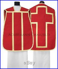 Red Roman chasuble Römische Kasel Messgewand romaine Casulla romana R-C25 us