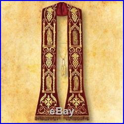 Red Stole Etole Chasuble Vestment Kasel Messgewand