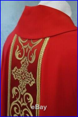 Red trim Messgewand Chasuble Vestment Kasel