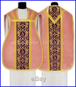 Rose Roman Chasuble Kasel Messgewand Vestment Casula R012-R25 us