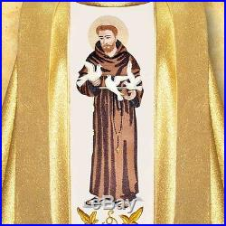 St. Francis OFM Gold Messgewand Chasuble Vestment Kasel