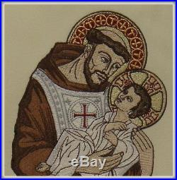 St Francis of Assisi and Baby Jesus Messgewand Chasuble Vestment Kasel
