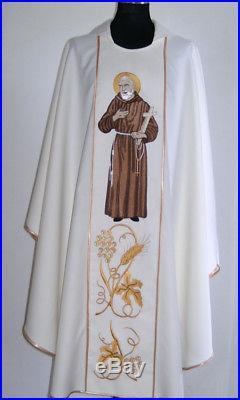 St. Padre Pio Chasuble Vestment Messgewand Kasel