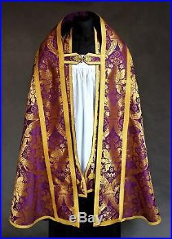 Violet Purple Cope Vestment Chasuble Kasel Messgewand Stola Maniple Manipel