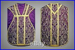Violet Purple Vestment Chasuble Kasel Messgewand Stola Maniple Manipel