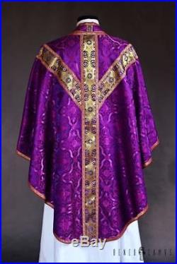 Violet Purple Vestment Chasuble Kasel Messgewand Stole Stola Maniple Manipel