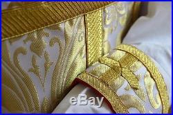 White Vestment Chasuble Kasel Messgewand Stole Stola Maniple Manipel