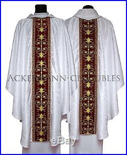 White Chasuble Kasel Messgewand Vestment Casula 561-ABC25 us