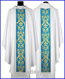 White Chasuble Kasel Messgewand Vestment La casula 081-BN us