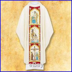 White Chasuble Messgewand Chasuble Vestment Kasel