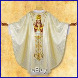 White Christ The King Messgewand Chasuble Vestment Kasel