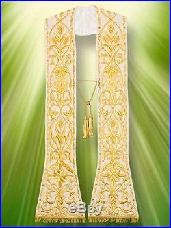 White Etole Chasuble Vestment Kasel Messgewand
