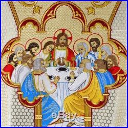 White Last Supper Messgewand Chasuble Vestment Kasel