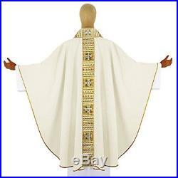 White Messgewand Chasuble Vestment Kasel