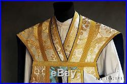 White Roman Vestment Chasuble Kasel Messgewand Stole Stola Maniple Manipel