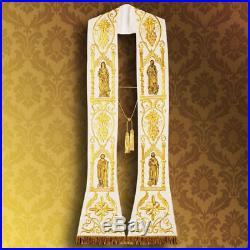 White Stole Etole Chasuble Vestment Kasel Messgewand