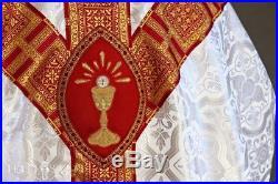 White Vestment Chasuble Kasel Messgewand Stole Stola Maniple